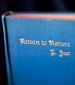 "A closeup of ""Return to Nature"", a book of Dr. John Bastyr's."