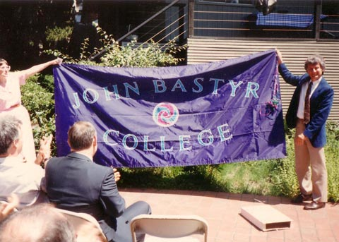 A banner for Bastyr College name change.