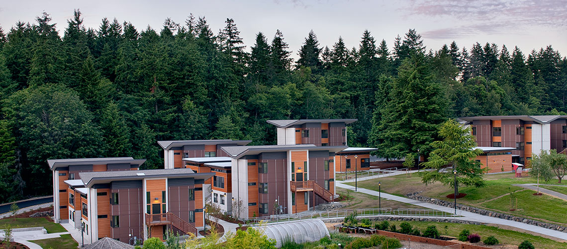 Photo of Kenmore Campus student village