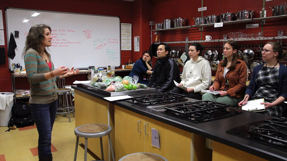 Class in herbal medicine lab