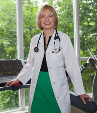Sarah Speck, MD, in exercise room