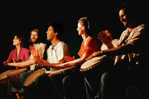 Student drummers perform