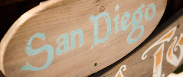 A sign reads San Diego.