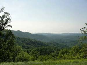 Vista of Blue Ridge Mountains