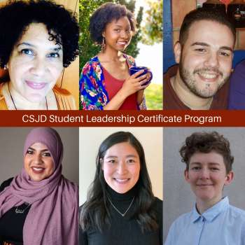 Students from the Center for Social Justice and Diversity Leadership Certificate Program
