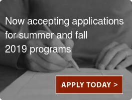 Now accepting applications  for summer and fall  2019 Nutrition programs