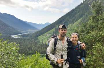 Ross Scherer and Anna Herby on the PCT.