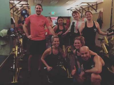 group of fitness trainers