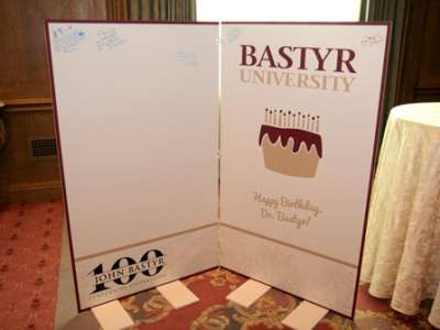 John Bastyr Birthday Card