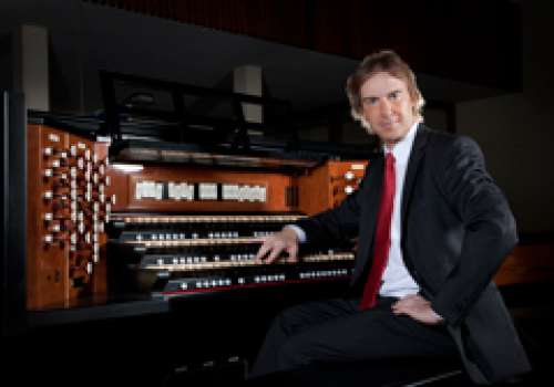 Burkard Schliessmann at an organ