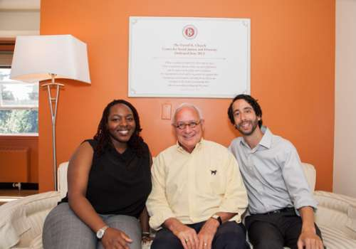 Safiya McCarter, ND, Daniel Church, PhD, and Daniel Rosen, PhD, at the newly dedicated Center for Social Justice and Diversity