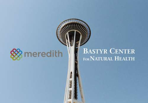 Seattle Space Needle with Meredith and Bastyr Center for Natural Health logo