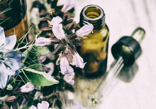 tincture with flowers
