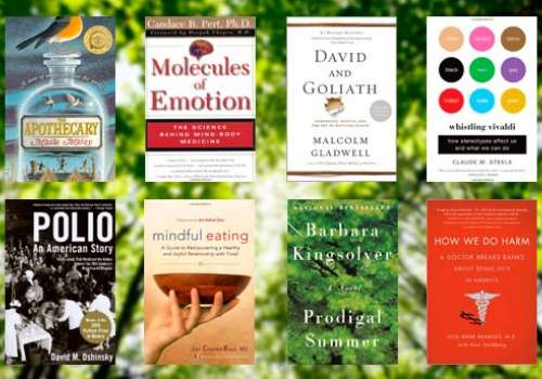 Covers of some of the suggested summer reads from Bastyr faculty.