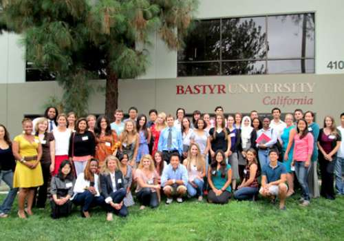 Inaugural class of Bastyr University California outside campus building