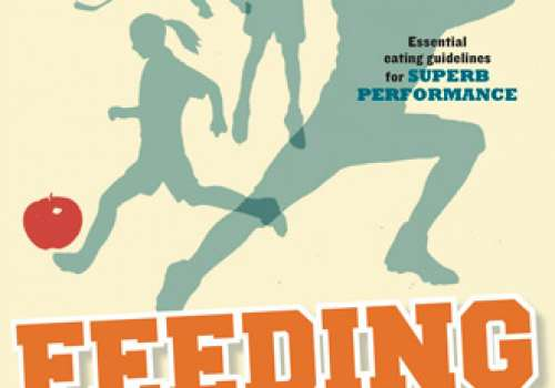 """""""Feeding the Young Athlete"""" book cover."""