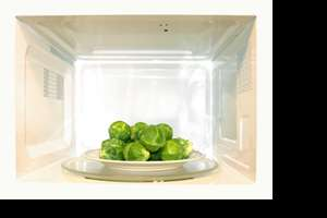 Picture of brussels sprouts in the microwave
