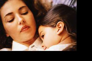 Picture of family sleeping