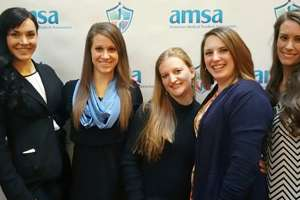 Students and faculty at AMSA convention