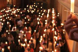 Candles held in chapel