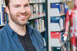 David Tolmie in library