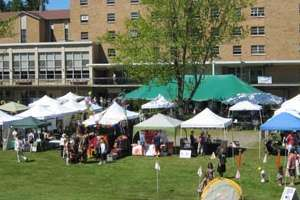 View of Herb and Food Fair from hillside