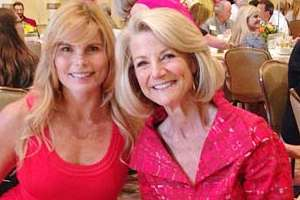 Actor, author and activist Mariel Hemingway with KING-TV anchor Jean Enersen.
