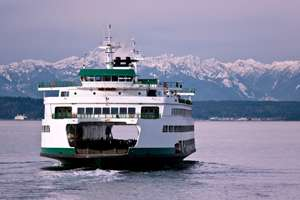 A ferry in the Puget Sound.