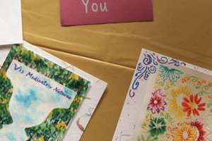 Cards and notes from students