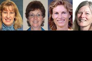 Drs. Arianna Staruch, Joni Olehausen, Hazel Philp and Lynelle Golden.