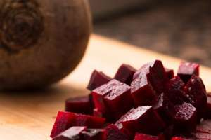 Diced purple beet