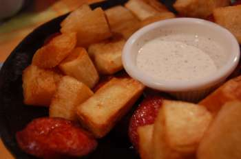 Yucca fries and side of cilantro mayo