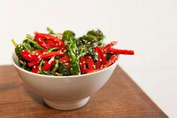 Broccoli Rabe with Red Pepper and Sesame Seeds