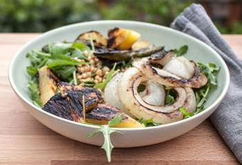 Grilled Pineapple Salad with Jalapeños and Sweet Onion
