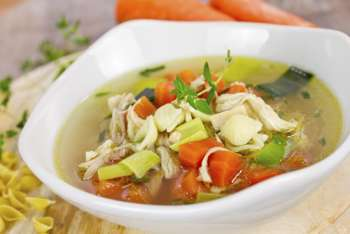 Restorative Chicken Ginger Soup