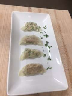 Serving plate of 4 Shrimp Dumplings