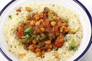 Root Vegetable and Chickpea Tagine