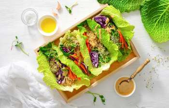 lettuce wraps, healthy eating