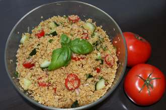 Bowl of Quinoa Tabbouleh